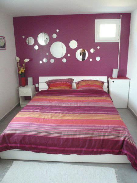 peinture prune chambre chambre adulte prune et blanc deco