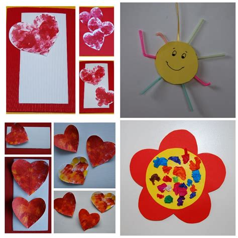 craft decorations taking wall decor made of paper material in unique style of heart also flower and sun shape