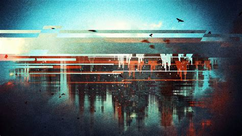 Abstract Cityscape Wallpaper by 1920x1080 Px Abstract Birds Cityscape Distortion Lines