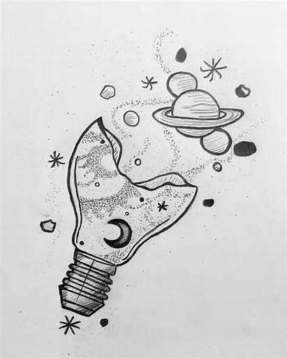 Space Drawings Cool Drawing Draw Things Pencil
