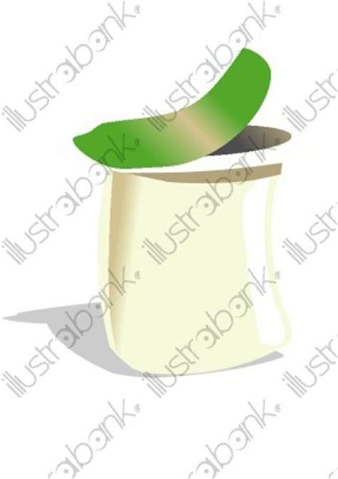 pot de yaourt illustration contenant libre de droit sur illustrabank