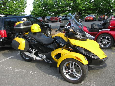 Motorcycle With Two Front Wheels And One Back Wheel