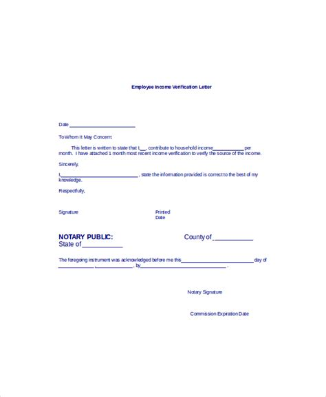 employment verification letter sample templates  word