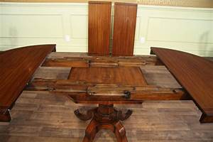 Small, Round, Dining, Table, With, Leaves, From, 44, Inch, To, 80, Inch