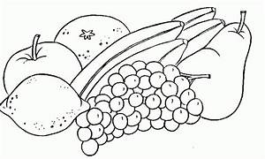 Fruit And Vegetable Clipart Black And White | www.pixshark ...