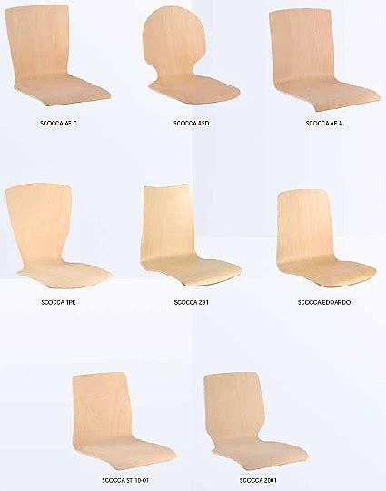 sedili per sedie produzione monoscocche schienali e sedili in legno per