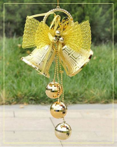 Christmas Bells Merry Hanging Tree Decorations Double