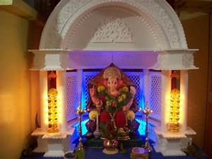The gallery for --> Simple Ganpati Decoration Ideas At Home