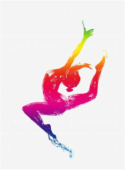 Clipart Dance Dancing Silhouettes Colored Transparent Silhouette