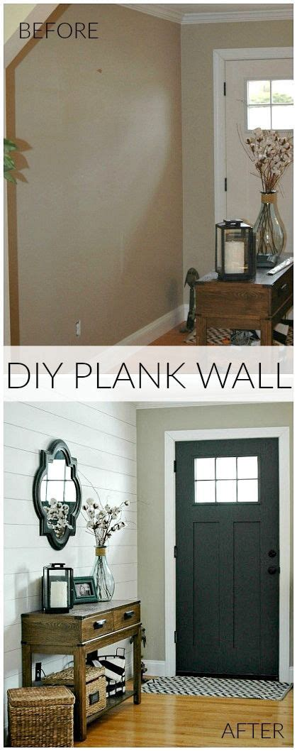 {entryway Reveal} Diy Plank Wall Tutorial  The Doors