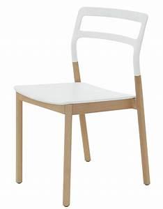 Chaise Bois Blanc : chaise empilable florinda bois et plastique blanc de padova ~ Teatrodelosmanantiales.com Idées de Décoration