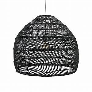 Suspension En Osier : lampe suspension en osier 60cm noir hk living petite lily interiors ~ Teatrodelosmanantiales.com Idées de Décoration