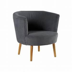 Fauteuil Cabriolet Gris : fauteuil cabriolet tissu gris id es de d coration ~ Teatrodelosmanantiales.com Idées de Décoration