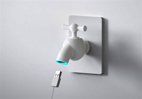 design on tap turn tap for usb power yanko design