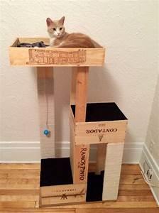 More For Cats Kratzbaum : 15 ways to diy with wine crates katzen ~ Whattoseeinmadrid.com Haus und Dekorationen