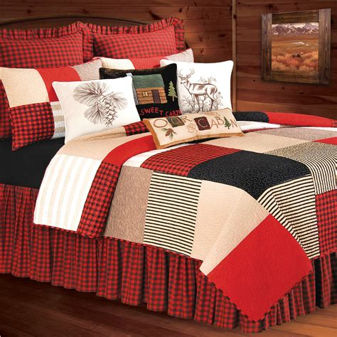 boulder ridge patchwork quilt bedding