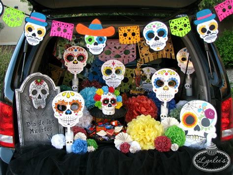 Trick Or Trunk Decorating Ideas by Day Of The Dead Trunk Or Treat Ideas Lynlees