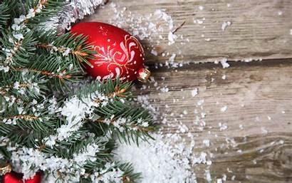 Snow Christmas Wooden Leaves Ornaments Surface Desktop