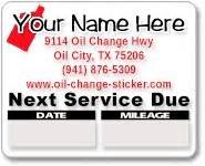 order custom oil change stickers clear removable adhesive With custom oil change stickers