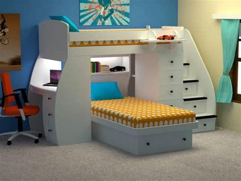 lit superpose bureau l 39 arrangement des lits superposés dans la chambre d 39 enfant
