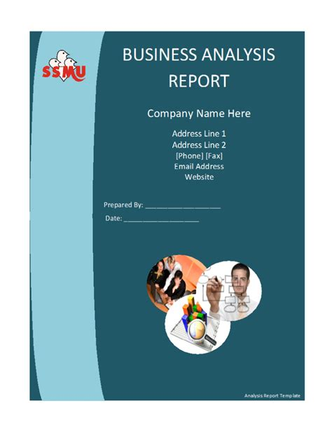 business report template word business analysis report template free formats excel word