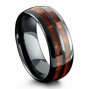 Barrel Ceramic Koa Wood Ring Northern Royal LLC