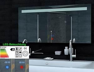 Spiegel Mit Uhr : lichtspiegel led beleuchtung uhr touch schalter 120x65 ml6512 ~ Orissabook.com Haus und Dekorationen