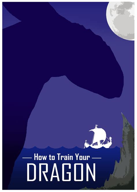 How To Train Your Dragon Minimalist Poster By