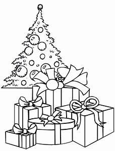 Disegno di un albero di Natale con i regali Cose Per Crescere