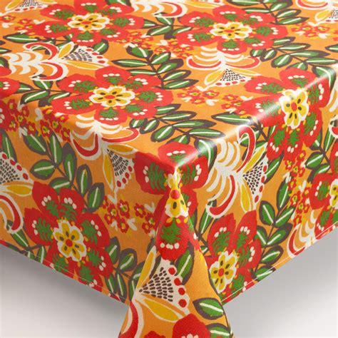 oilcloth tablecloth caribbean floral oilcloth tablecloth world market