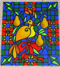 faux stained glass patterns Feature Friday- Introducing Partridge & Pear Pattern!