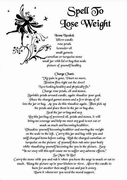 Spells Witchcraft Magick Beginners Weight Wiccan Lose
