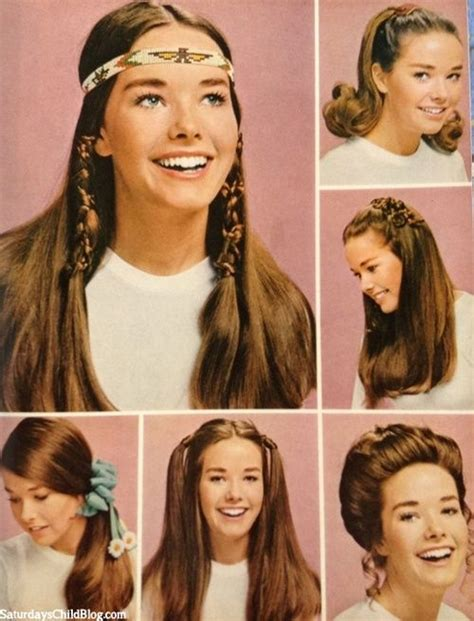 Popular 70s Hairstyles by 1970s Hair Fashions Usually Wore Mine Just And