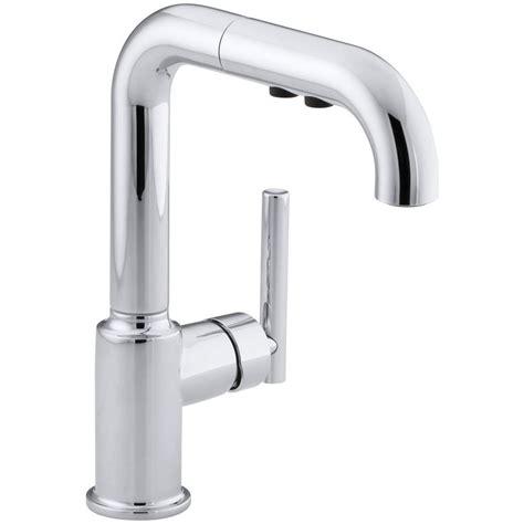 kohler pull kitchen faucet kohler purist single handle pull out sprayer kitchen