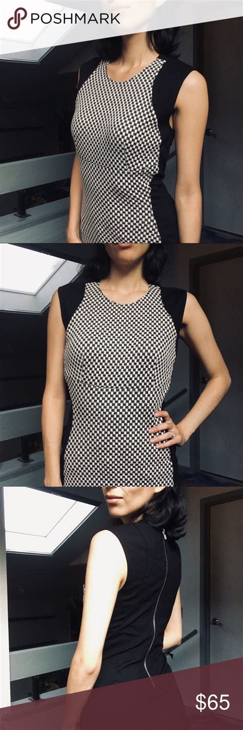 black white checkered dress  great condition dresses