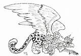 Griffin Coloring Pages Gryphon Printable Griffon Getcolorings Drawn sketch template