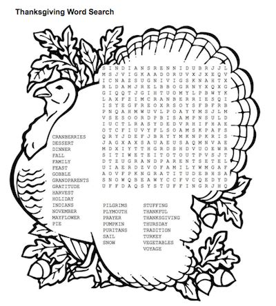 free download top printable thanksgiving word search in pdf