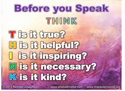 Speak Think Before Quote Poster True Helpful