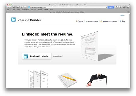 Resume Builder Sign In by A Cv In 60 Seconds Provided You Ve Got Linkedin