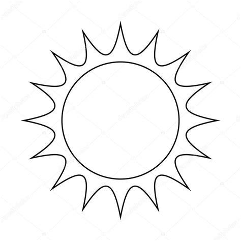 sole clipart disegno di icona simbolo di sole vettoriale illustrazione