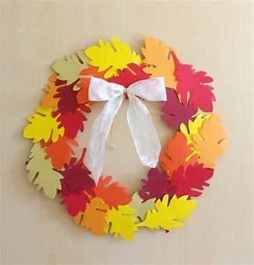 Türkranz Herbst Selber Machen : herbst deko dekoration basteln papier bl tterkranz ~ Watch28wear.com Haus und Dekorationen