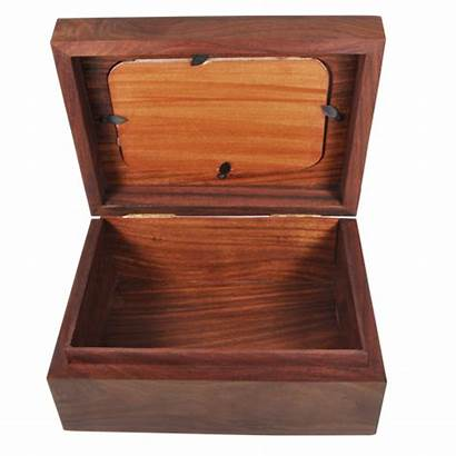 Box Wooden Chest Memory Dog Urn Open