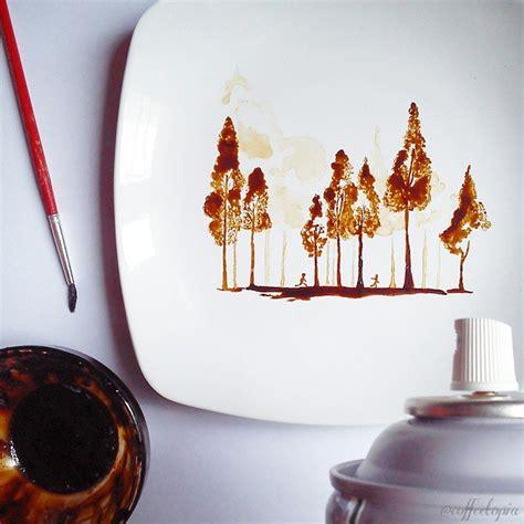Saatchi art artist anna ravliuc; Artist Turns His Morning Coffee Leftovers Into Beautiful Leaf Paintings   DeMilked