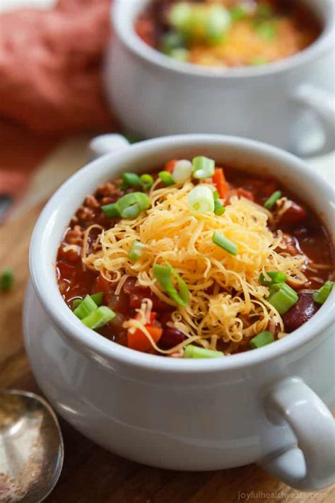 The BEST Crock Pot Chili Recipe | Slow Cooker Turkey Chili