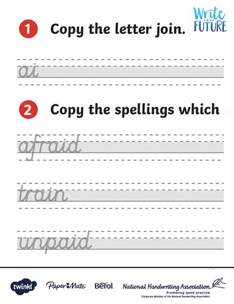 letter join activity sheets  looped higher ability