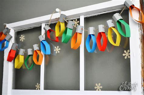 16 effortless paper christmas decorations light garland