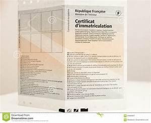 Code Certificat D Immatriculation : vehicle registration certificate certificat d immatriculation k editorial photography image of ~ Maxctalentgroup.com Avis de Voitures