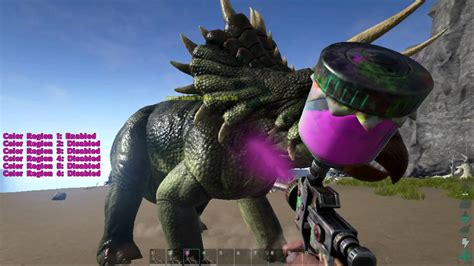ark survival evolved automatic spray paint gun on