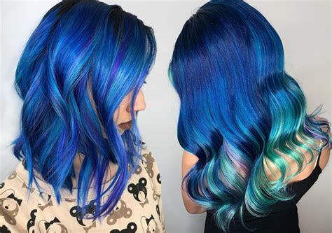 Coloring Hair Blue by 65 Iridescent Blue Hair Color Shades Blue Hair Dye Tips