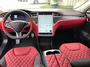 Tesla Model S P85+ Matt Blk & Red Interior Msrp$131k + $30k Upgrade 6999miles ! - Used Tesla ...